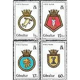 Gibraltar 447-450 (completa.edición.) 1982 Ship Crest (sellos para los coleccionistas)