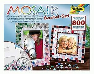 Folia 57019 - Kit Creativo de mosaicos, Incluye Dos Marcos de Fotos, 800 Piezas Importado de Alemania