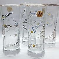 Unidades de 4pz vasos After Dinner Vintage decorados a mano con flores la ipra