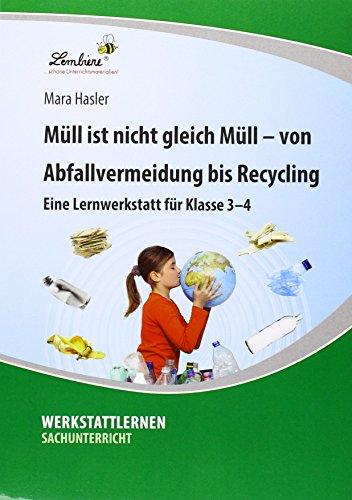 Müll ist nicht gleich Müll - von Abfallvermeidung bis zu Recycling: Grundschule, Sachunterricht, Klasse 3-4
