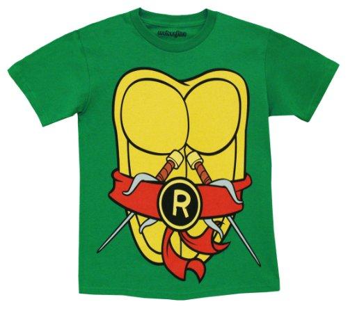 TMNT Teenage Mutant Ninja Turtles Raphael Kostüm Grün Erwachsene T-shirt Tee (Kostüme Erwachsene Donatello Tmnt Standard)