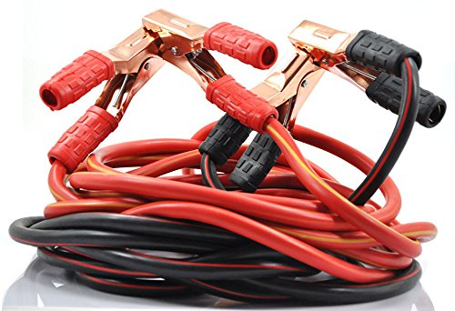 XINCOL Heavy Duty 1-Gauge Ultra 2500A 100/% Copper Wire Jumper Cable Booster Cable For Truck Anti-frozon Heat Insulation Jump Leads with Free Carry Bag Size 10Ft