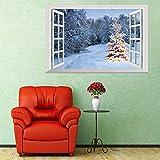 EXQULEG 3D Weihnachtssticker Wandtattoo, Wandaufkleber PVC Klebeband Aufkleber Wandsticker Für Wohnzimmer TV Wand Dekoration r Wandbild (Stil 8)
