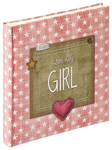 walther design UK-100-R Fotoalbum Little Baby Girl, altrosa, 28 x 30,5 cm