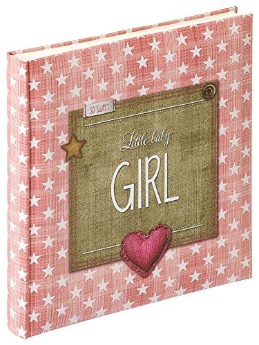walther design UK-100-R Fotoalbum Little Baby Girl, altrosa, 28 x 30,5 cm