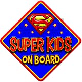 SUPER KIDS Blue non personalised novelty baby on board car window sign