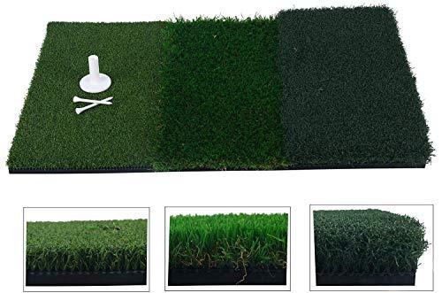 FreeTec Golf Übungsmatte Trainingsmatte 3 UnterschiedlichenOberflächen Kunstrasen (25