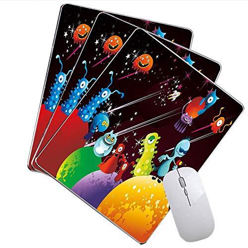 Lustige Mausunterlage Ausländer, die eine Partei über Planeten-Weltraum Androids-himmlischen Tieren haben, entwerfen das Spiel-Mausunterlage Mehrfarben,Gummimatte 11,8