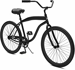 "Critical Cycles Herren Chatham-1 Men's Beach Cruiser 26"" Single-Speed Bicycle, Matte Black, One Size"