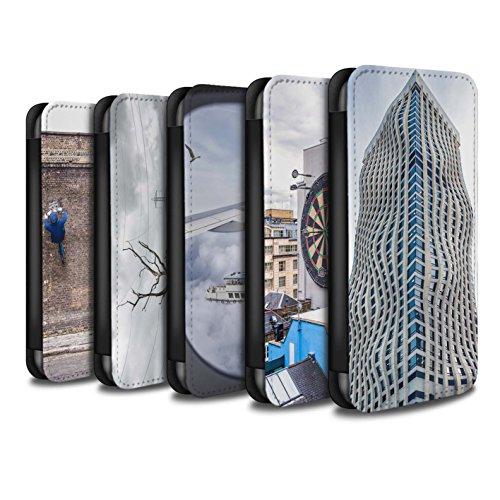 STUFF4 PU-Leder Hülle/Case/Tasche/Cover für Apple iPhone 7 / London Overground Muster / Vorstellen Kollektion Pack 29pcs