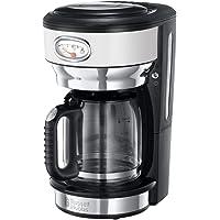 Russell Hobbs Retro 21703-56 Macchina del Caffè 1000 Watt, 1.25 Litri, Acciaio Inossidabile, Bianco