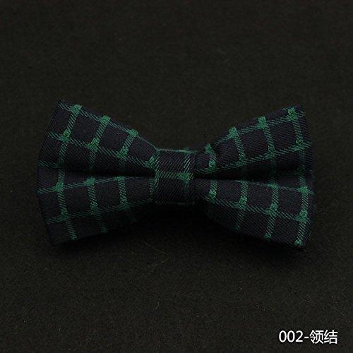 lpkone-Business professional convient à toiletter coton mariage bande double check tie Dark Green