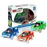 Juego de Juguetes Light Up Coche de Juguete Modelo de Carreras Juego de Juguetes Set para Niños Niñas Niños Pack de 3