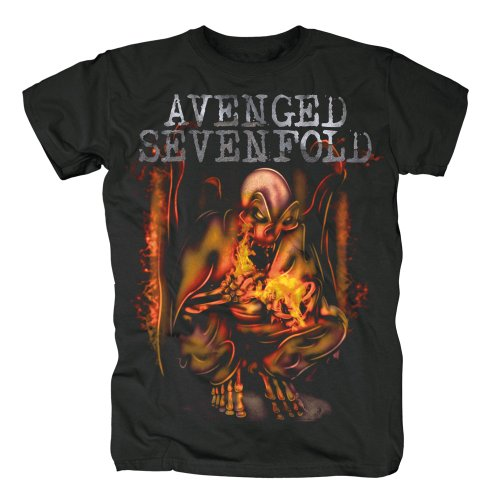 AVENGED SEVENFOLD - Fire Bat - T-Shirt Größe XL