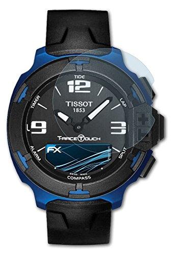 Tissot T-Race Touch Schutzfolie - 3 x atFoliX FX-Clear kristallklare Displayschutzfolie