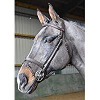 John Whitaker Ready to Ride Snaffle Bridle Extra Full Size Marrón