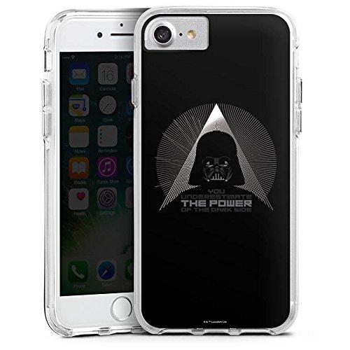 Apple iPhone X Bumper Hülle Bumper Case Glitzer Hülle Star Wars Fanartikel Zubehoer Darth Vader Bumper Case transparent