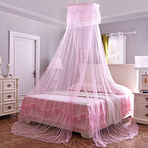 Boodtag Moskitonetz für Doppelbett und Einzel Bett Betthimmel Vorhang für daheim und Reise 60 * 260 * 1100cm Fünf Farben (rosa)