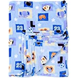 Mee Mee Snuggly Comfort Soft Baby Blanket, Puppy, Dark Blue