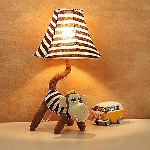 NASEN Dibujos animados paño Mono lámpara cabecera los niños habitación lámpara de mesa
