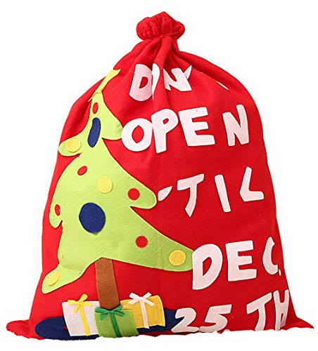 Weihnachtsbaum Schmuck Kostüm - DEMU Weihnachtsmannsack Nikolaussack Geschenksack Weihnachtsmann Nikolaus Sack Kostüm Weihnachtsbaum