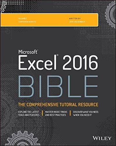 Read [pdf] Excel 2016 Bible free download - bremen pdf books