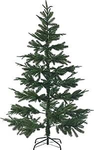 infactory Künstlicher Tannenbaum: Künstlicher Weihnachtsbaum, 180 cm, 1071 PE-Spitzen, mit Ständer, grün (Künstlicher Christbaum)
