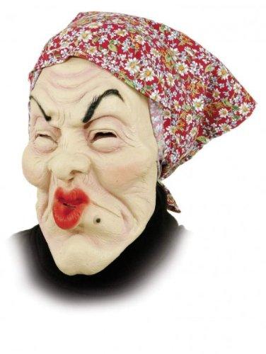 Gummi Maske Alte Frau - Oma Masken Fasching