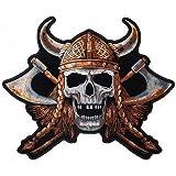 Patch Biker de calavera Viking