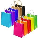 Keriber 20 Pcs Paper Party Sacs cadeau Kraft papier sac avec poignée pour anniversaire, Tea Party, mariage et Festival, multicolore