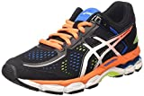 ASICS - Gel-kayano 22 Gs, Zapatillas de Running Niños-Niñas, Negro (black/hot Orange/electric Blue 9030), 35.5 EU