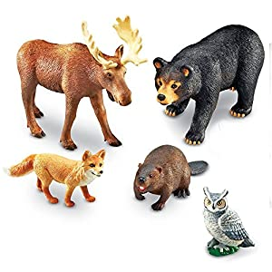 Learning Resources- Animales Jumbo del Bosque, Color (LER0787)