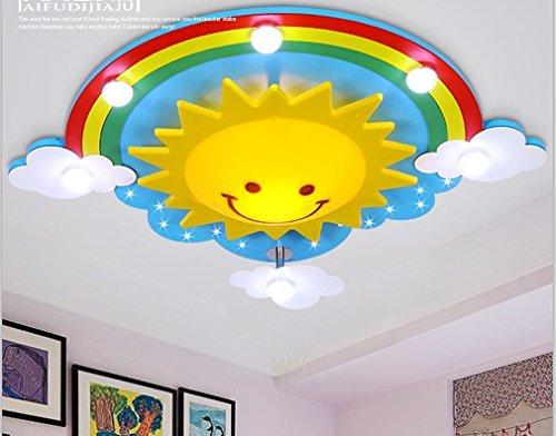 BGmdjcf Rainbow Decke licht sonne wolken Lampe LED REMOTE leuchtet Cartoon Kinder Licht Lampe leuchtet schöne Schlafzimmer Studie, 72000+ Stunden WEISSE LED, 69 * 60 Rainbow Sun Lampe + cm).