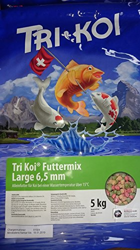 Tri Koi Futtermix ab 15° C - Koifutter aus der Schweiz - ca. 6,5 mm (10 kg)
