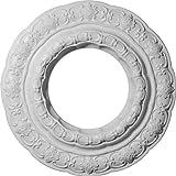 Ekena Millwork CM15LI 15 3/8-Inch OD x 7-Inch ID x 1-Inch Lisbon Ceiling Medallion by Ekena Millwork