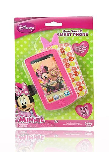 Disney Minnie Mouse HOT PINK Smart Phone with Realistic Sounds! by Disney
