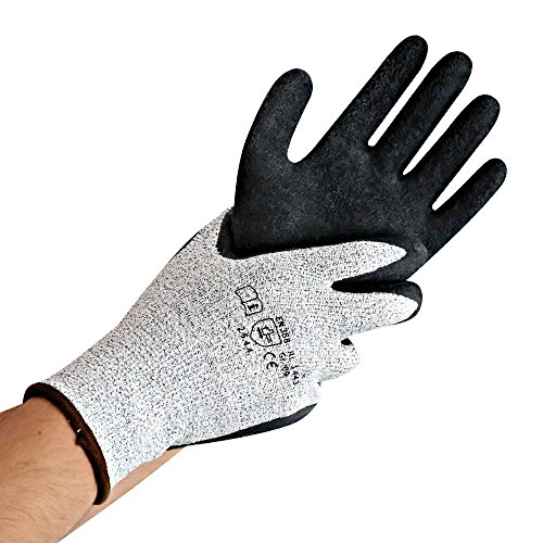 Schnittschutzhandschuhe, Arbeitshandschuhe CUT SKILL, elastische, atmungsaktive Handschuhe der Schnittschutz-Klasse 5, Größe:L, Menge:VE