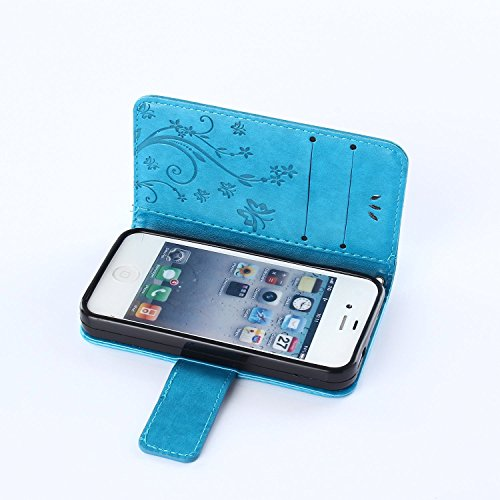 iPhone 4S Hülle,iPhone 4S Weiß Leder Handy Tasche Wallet Case Flip Cover Etui,iPhone 4S Cover,EMAXELERS iPhone 4S PU Leder Flip Wallet Case Hülle,Niedlich Muster Druck Cool Skull Blumen Design Back Hü D Pure 2