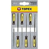 Topex 06A010 - Limas de aguja para metal, 6 piezas