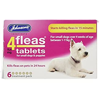 Johnson's 4fleas protector spot on dog puppy 3 month flea protection Johnson's 4fleas protector spot on dog puppy 3 month flea protection 51VMuO7VO3L