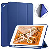 Ztotop Custodia per Nuovo iPad Mini 5 2019, Ultra Smart Cover con Pencil Holder, Supporta la Funzione Auto accensione/spegnimento, Cover per iPad Mini 7,9 Pollici 2019 - Blu