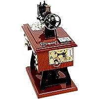 guoxuEE Caja de música Tablero Animada de la máquina de Coser Antigua con Tijeras ...