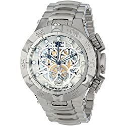 Invicta 12904 - Reloj de cuarzo para hombres, color plata