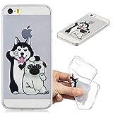Coque iPhone 5/SE/5S, iPhone 5 Silicone Coque Caselover Transparente Housse Etui...