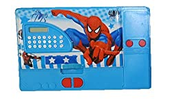 8teen World Jumbo Pencil Box Pencil Box in Princess, Cinderella, Spider Man & Avengers Characters with Calculator (Avengers/Spiderman)