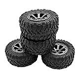 RC-Autoreifen, 4PCS WPL RC-Autoreifen, große RC-Reifen, Fernbedienung Ersatzreifen für WPL B-1 B-14 C-24 Big Tire