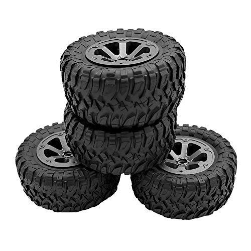 luckything Pneumatici Auto RC 4 Pezzi di Pneumatici di Ricambio in plastica per Camion Fuoristrada WPL B-1 B-14 C-24 Big Tire