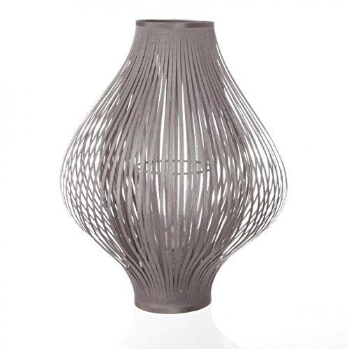 Lampe à poser pliante en polyester gris (D.34xH.44cm)