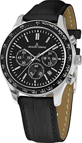 Jacques Lemans Unisex Watch Rome Sports 1–1586ZA Analogue Display and Gold Leather