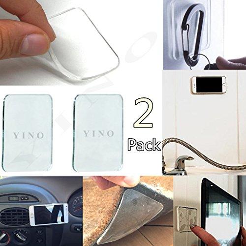 YINO 2Pack Universal Anti-Rutsch-Matten, Sticky Rutschfeste Gel Pads, leicht zu entfernen, haftet auf überall und hält Alles farblos